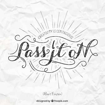 Quote in lettering style