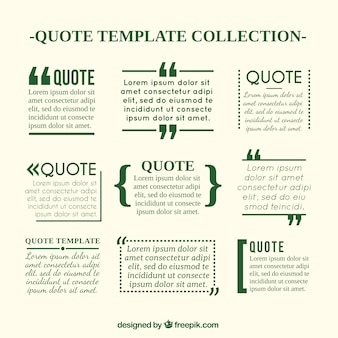 Quote templates in newspaper style