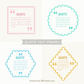 Quote text frames pack