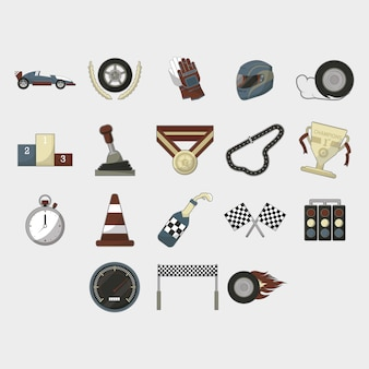 Race icon collection