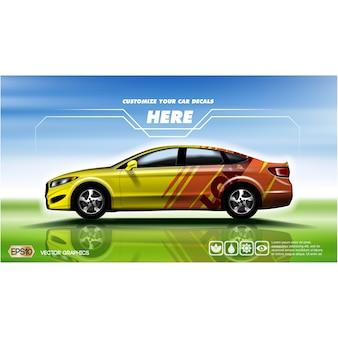 Racing car background design