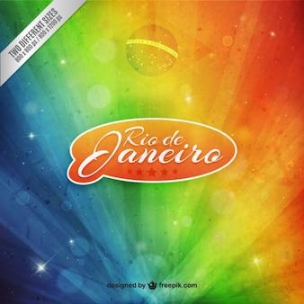 Rainbow Braizil carnival background