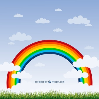 Rainbow nature vector