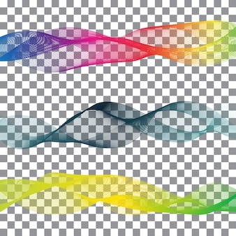 白い背景と虹の抽象的な図形