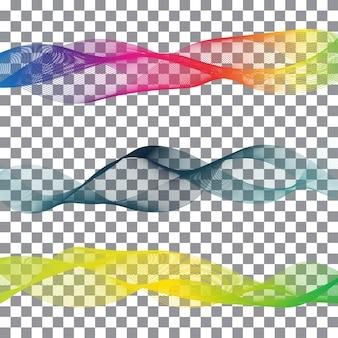 Радуга ленты абстрактные фигуры с белым фоном