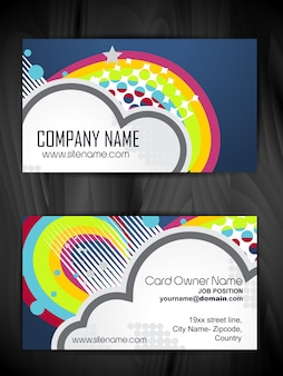 Rainbow style business card