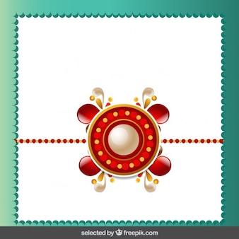 Rakhi background with jewelry