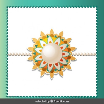 Rakhi background with lace frame