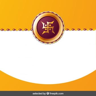 Rakhi background with wave