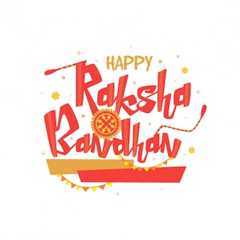Raksha bandhan background in flat design