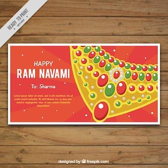 Ram navami banner of beautiful necklace