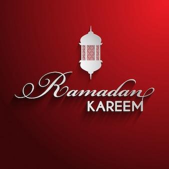 Ramadan background with decorative lantern