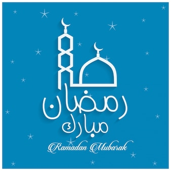 Ramadan background with stars