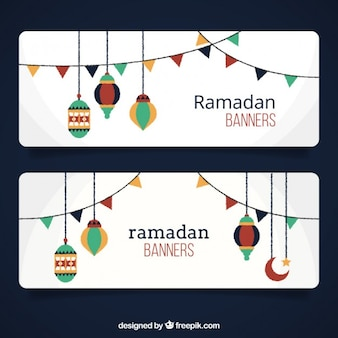 Ramadan banners with ornaments