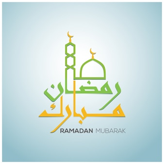 Ramadan design with mosque