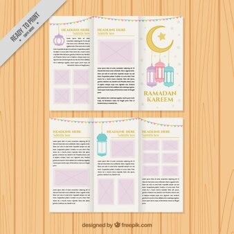 Ramadan trifold template