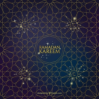 Ramandan geometric stars background