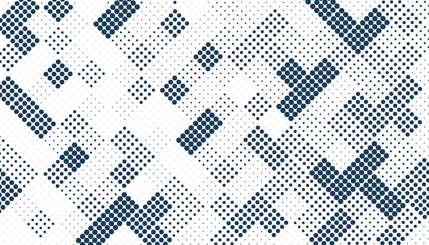 Random square halftone pattern