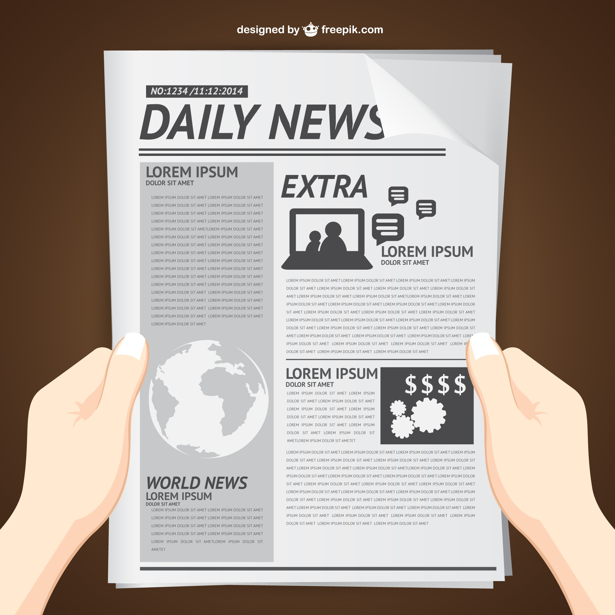 Reading daily news