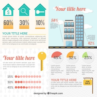 Real estate elements infographic