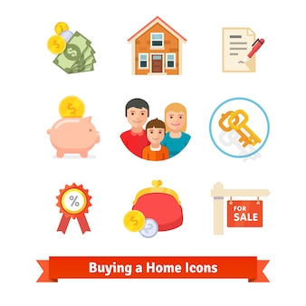 不動産、住宅ローン、ローン、購入アイコン