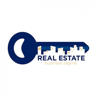 Real estate logo in key form