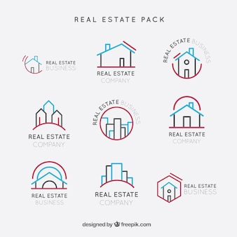 Real estate logos pack