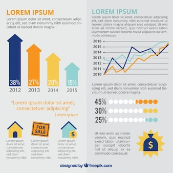 Real estate with infografic elements