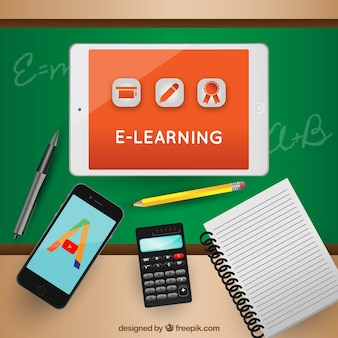 Realistic background of learning elements