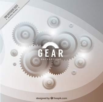 Realistic background with gears