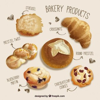 Realistic bakery products