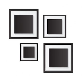 Realistic black and white frames