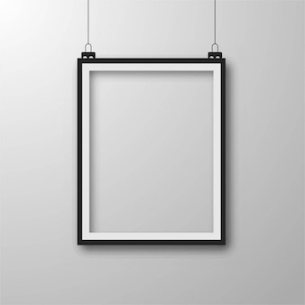 Realistic black frame