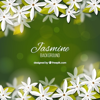 Realistic bokeh background of jasmine