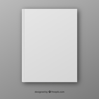 Realistic book template in front side