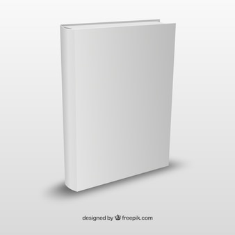 Realistic book template