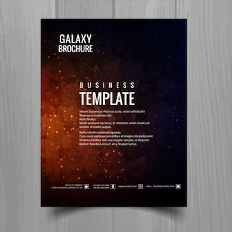 Realistic brochure about galaxy