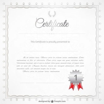 Realistic certificate template