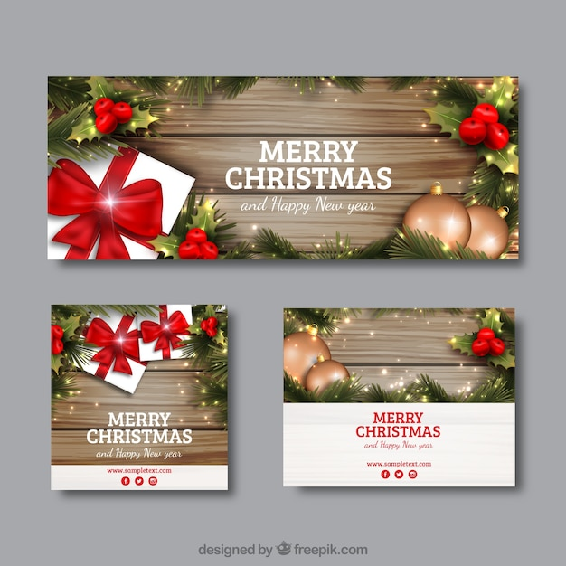 Christmas Banner Vectors, Photos and PSD files | Free Download