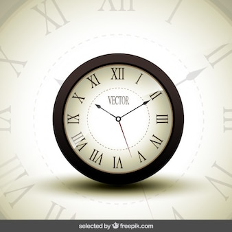 Realistic clock isolated