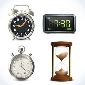 Realistic clock set