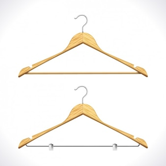 Realistic clothes hangers