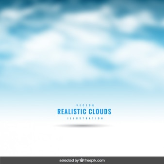 Realistic clouds background
