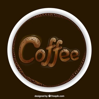 Realistic coffee logo