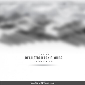 Realistic dark clouds backdrop