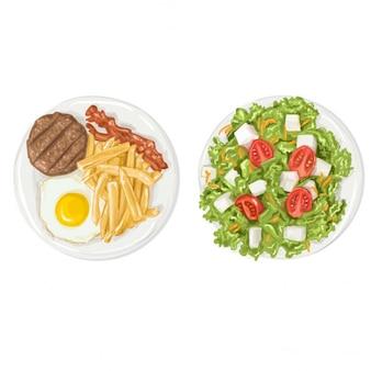 現実的な食品