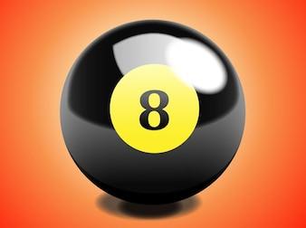 Realistic gambling circle ball vector