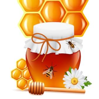 Realistic honey background