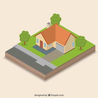 Realistic isometric house