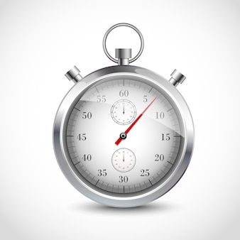 Realistic metallic stopwatch